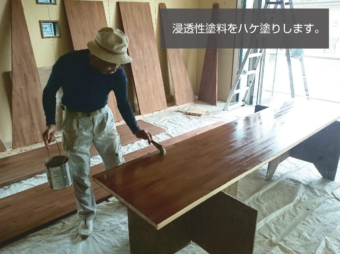 室内の木部の塗装はいつもと方法が違います